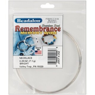 Remembrance Memory Wire Necklace .62mm .25oz-Bright - 9 Coils - bright - 9 coils