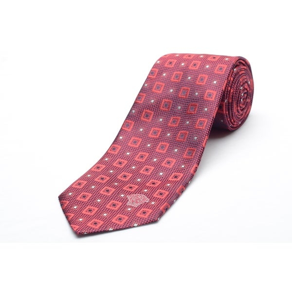 Versace Men's Medusa Logo Silk Neck Tie B0879 Red