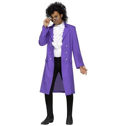 Mens Purple Pain Prince Plus Size Costume - Big & Tall (50-52 chest)