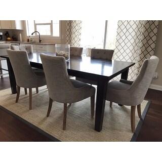 Safavieh En Vogue Dining Becca Grey Viscose Weathered Oak Finish Dining Chair