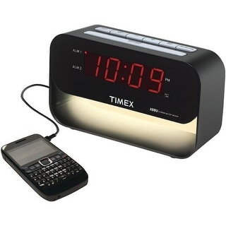 Timex Dial Alarm Clock with USB Charging and Night Light