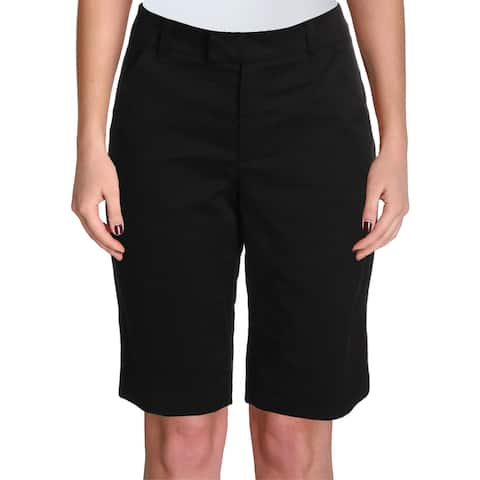 beda81377af693 Ivanka Trump Womens Bermuda Shorts Cotton Flat Front