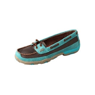 Twisted X Casual Shoes Womens Mocs Slip On Rubber Brown Turq WDM0021