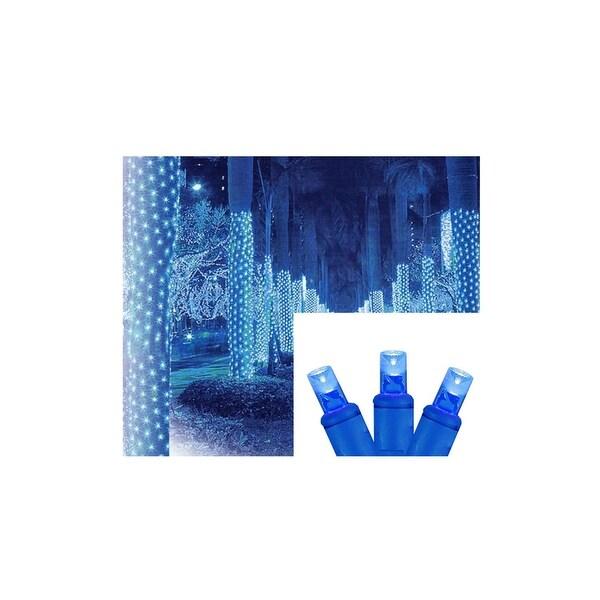 2' x 8' Blue LED Net Style Tree Trunk Wrap Christmas Lights - Blue Wire