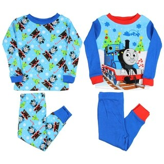 Thomas The Train And Friends Boys' Toddler 4 Piece Christmas Pajama Set