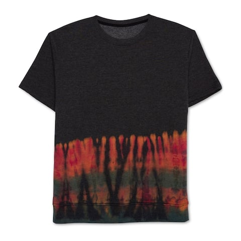 American Rag Mens SL Fleece Sweatshirt, black, Large