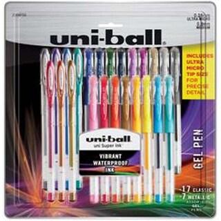 Assorted - Uni-Ball Gelstick .38Mm & .7Mm Pens 24/Pkg