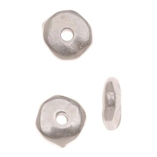 TierraCast Fine Silver Plated Pewter Nugget Heishe Spacer Beads 6mm (10)