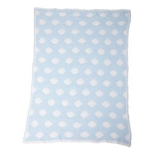 Colorado Clothing Chunky Chenille Polka Dot Baby Blanket - Reef/ White - One Size