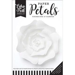 Medium White Rose - Echo Park Paper Petals