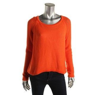 Lauren Active Womens Cotton Crew Crewneck Sweater
