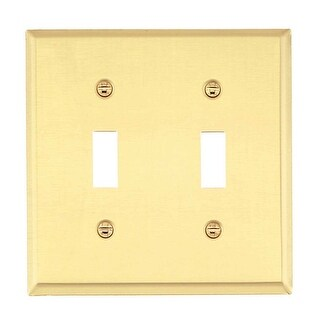 Switch Plate Solid Brass DoubleToggle /Dimmer Wall Plate Renovator's Supply