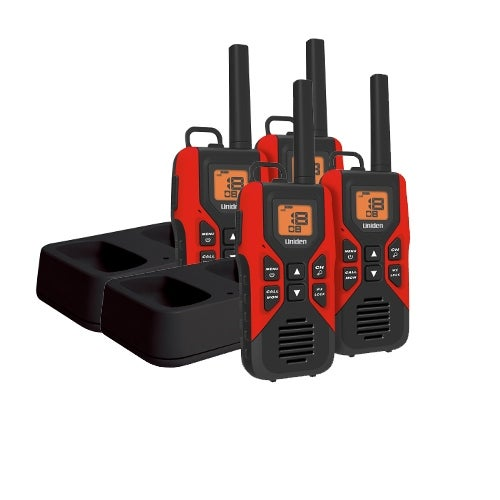 Uniden GMR3055-2CK (4-Pack) Two Way Radio with LCD Battery Meter & Display