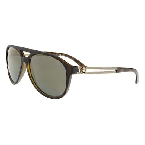 3299fa4600 Versace VE4312 51814T Havana Aviator Sunglasses - 60-15-145