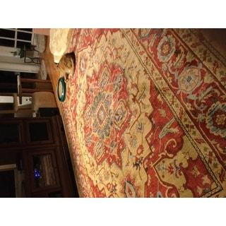 """Safavieh Mahal Traditional Grandeur Red/ Natural Rug - 5'1"""" x 5'1"""" Square"""