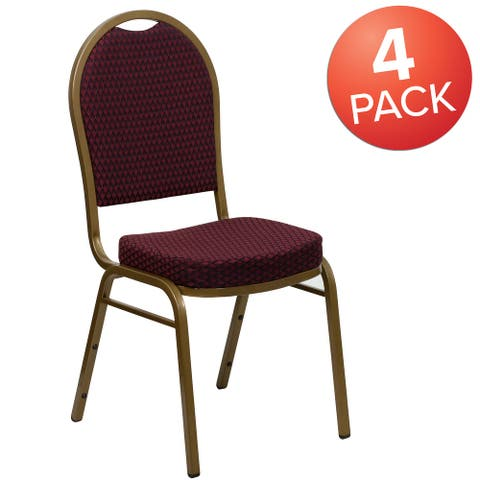 4 Pack Dome Back Stacking Banquet Chair