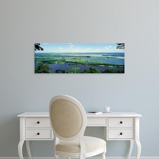 Easy Art Prints Panoramic Image 'River flowing, Mississippi River, La Crescent, Minnesota' Canvas Art