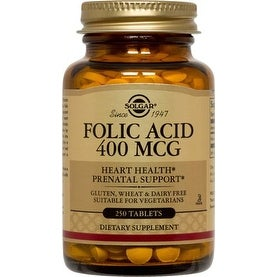 Solgar Folic Acid 400 mcg (250 Tablets)
