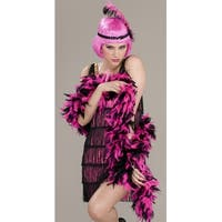 Pink & Black Flapper Roaring 20's Adult Costume Boa