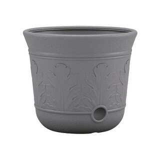 Suncast 7604168 300 ft. 300 ft Free Standing Decorative Hose Pot, Gray