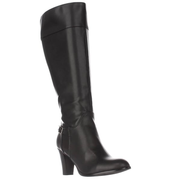 GB35 Boelyn Heeled Knee High Dress Boots, Black