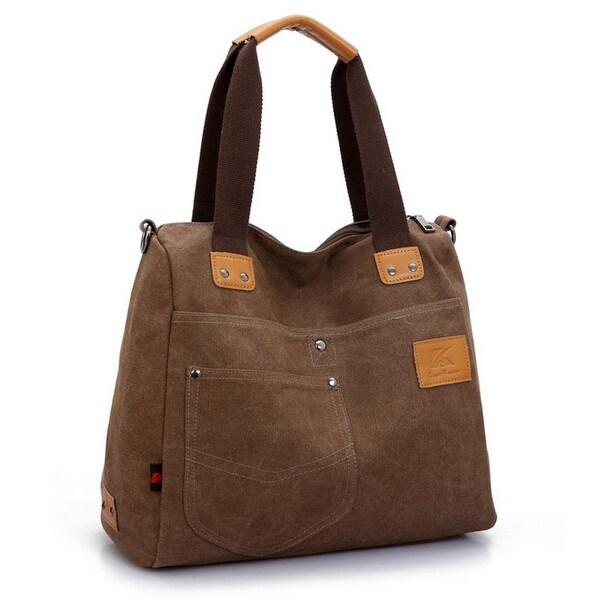 Shoulder Messenger Large Capacity Portable Canvas Bag. Opens flyout.