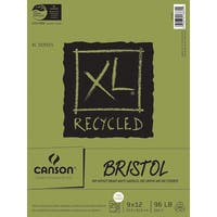 """Canson XL Recycled Bristol Paper Pad 9""""X12""""-25 Sheets"""