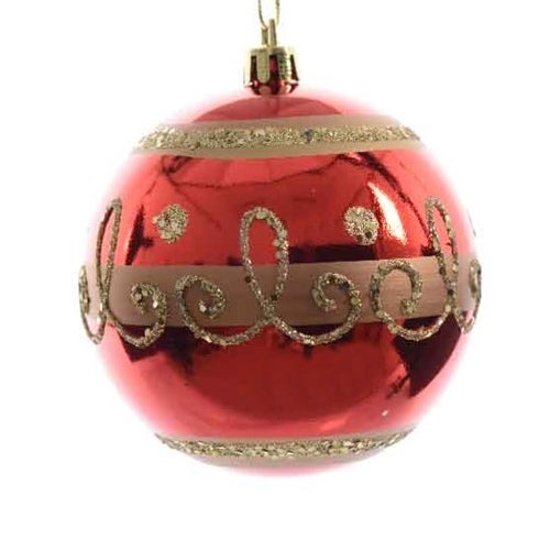 Red and Gold Shatterproof Ornament