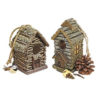 Design Toscano Backwoods Bird House Collection: Set of Two