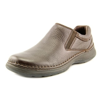 Hush Puppies Lunar II Men EW Round Toe Leather Brown Loafer