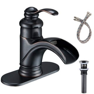 Vibrantbath Waterfall Bathroom Sink Faucet with Drain Assembly