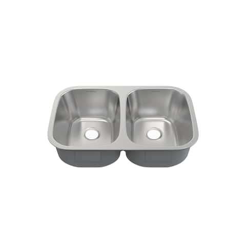 Toulouse 29 x 18 Stainless Steel, Dual Basin, Undermount Kitchen Sink - 29 x 18