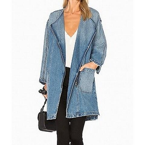 Current/Elliott Deep Womens Full-Zip Denim Jacket