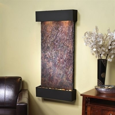 Adagio Whispering Creek Fountain w/ Rajah Natural Slate in Blackened Copper Fini - Thumbnail 0