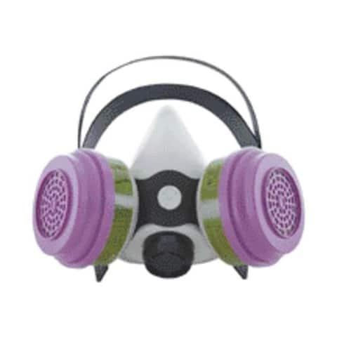 Sperian 365884 Survivair Gray Silicone Multi-Purpose Half Mask Respirator, Medium