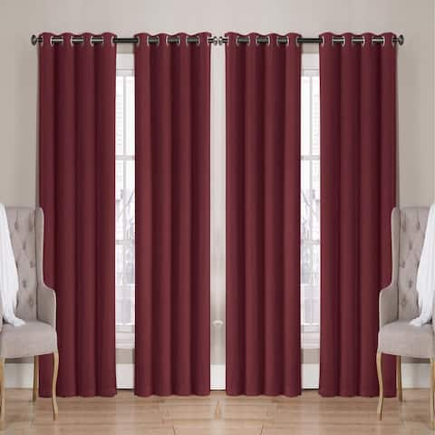 """Nathan Solid Room Darkening Window Curtain Panels 63"""" 84"""" 90"""" Multiple Colors"""