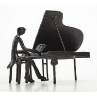 "Pianist Sculpture - Cast Iron - 8"" x 6"""