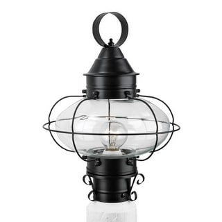 "Norwell Lighting 1321 Cottage Onion Single Light 15"" Tall Outdoor Pier Mount Light with Clear Glass Shade"