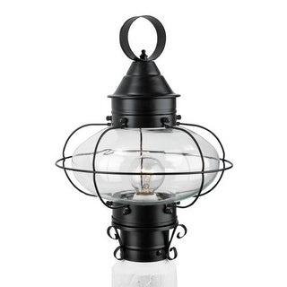 "Norwell Lighting 1321 Cottage Onion Single Light 15"" Tall Outdoor Pier Mount Light with Clear Glass Shade (2 options available)"