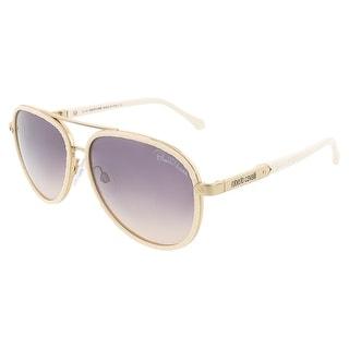 Roberto Cavalli RC790S/S 28F ADHAFERA Ivory/Rose Gold Aviator sunglasses