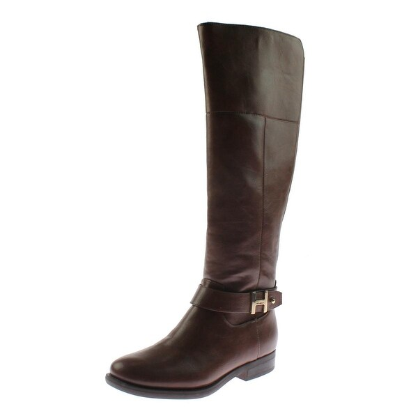 Tommy Hilfiger Womens Shahar Riding Boots Faux Leather Knee-High