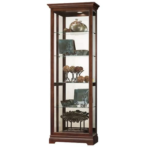 Howard Miller Brantley Transitional 5-shelf Curio Cabinet with Light