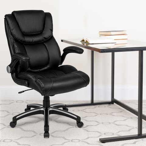 High Back LeatherSoft Executive Swivel Chair with Double Layered Headrest