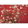 ''Almond Blossom in Red'' by Vincent van Gogh Huntington Graphics Art Print (24 x 36 in.) - Thumbnail 0