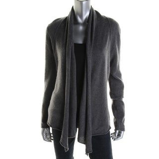 Aqua Womens Cashmere Drapey Cardigan Sweater - XS