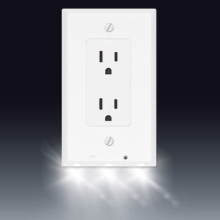 Shop Powerglow Wall Outlet Plate 3 Led Night Light On Off