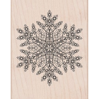 "Hero Arts Mounted Rubber Stamp 4.5""X5.75""-Dazzling Snowflake"