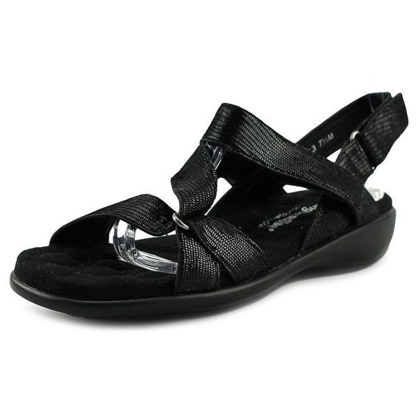 Walking Cradles Score Women Black Lizard Sandals