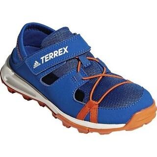 adidas Children's Terrex Tivid Shandal Water Shoe Blue Beauty/Orange/Chalk White