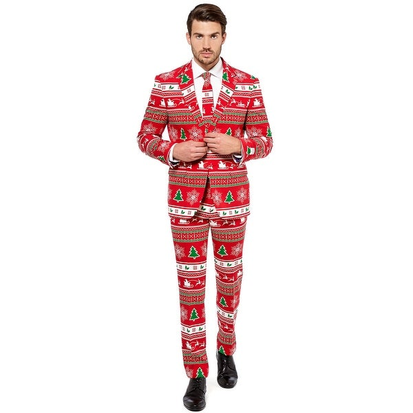 Oppo Suits Winter Wonderland Suit Adult Costume - Red